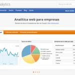 Página principal Google Analytics. Analizar una web