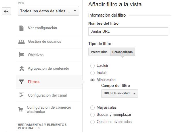 Análisis para evitar la duplicación de URL en los informes. Analizar una web. Marketing online Mallorca. Analitia web