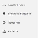 Análisis del menú principal de Google Analytics. Análisis web