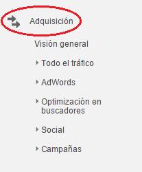 Analizar e interpretar el informe de adquisición de una página web. Análisis de la adquisición del tráfico web. Analitia web. Marketing online Mallorca