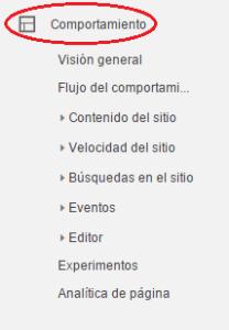Analizar e interpretar el informe del comportamiento del tráfico de una web. Comportamiento de los usuarios. Analitia web. Marketing online Mallorca