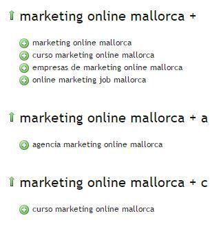 Servicios de marketing online en Mallorca. Posicionamiento web en ingles y primeros puestos buscadores Mallorca. Expertos en marketing Mallorca