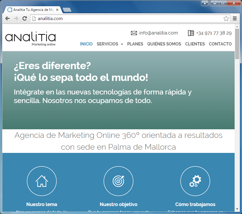Presupuesto para marketing online en Mallorca. Campañas de publicidad en Internet y asesoramiento marketing online. Posicionamiento SEO en Mallorca